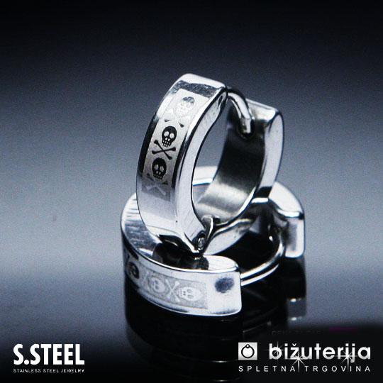 2019 heißer verkauf Vorschau von attraktive Farbe PIRAT Silber Herren Edelstahl klapp creolen ohrringe U-115 ...